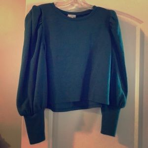 Tops - Leith Green Blouson Top